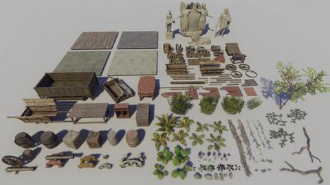 Jungle Vegetation & Props Pack UE