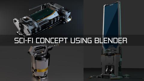 SCI-FI Concept using Blender