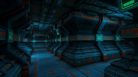 Stylized Sci-Fi Tunnel