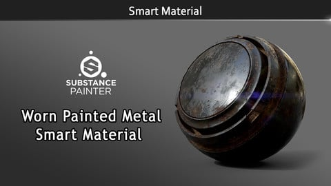 Smart Material: Worn Painted Metal