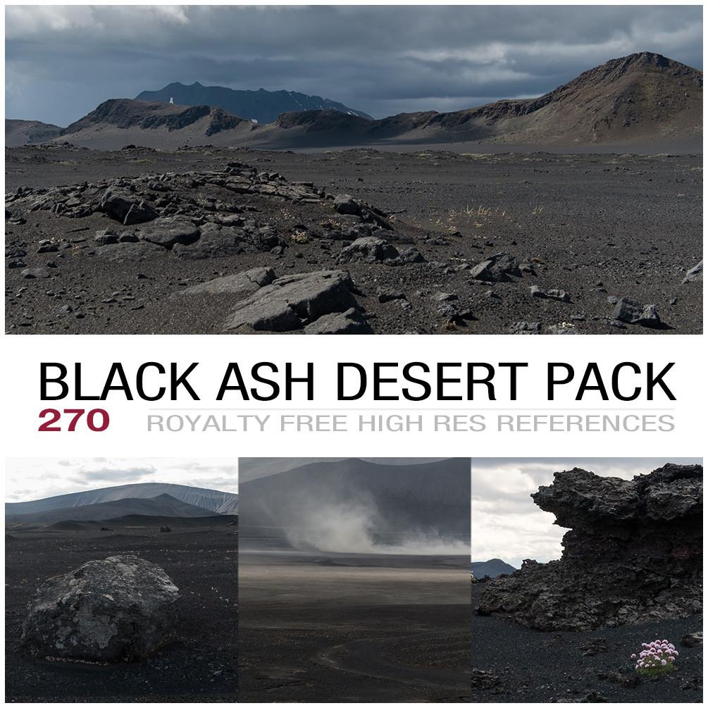 Black ash desert cover