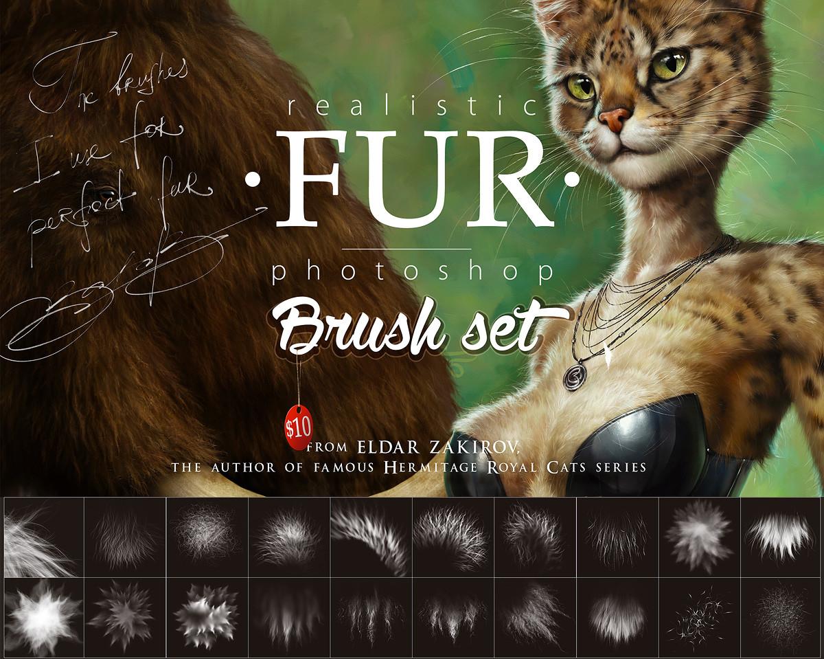 Realistic FUR Brush Set for Photoshop  by Eldar Zakirov