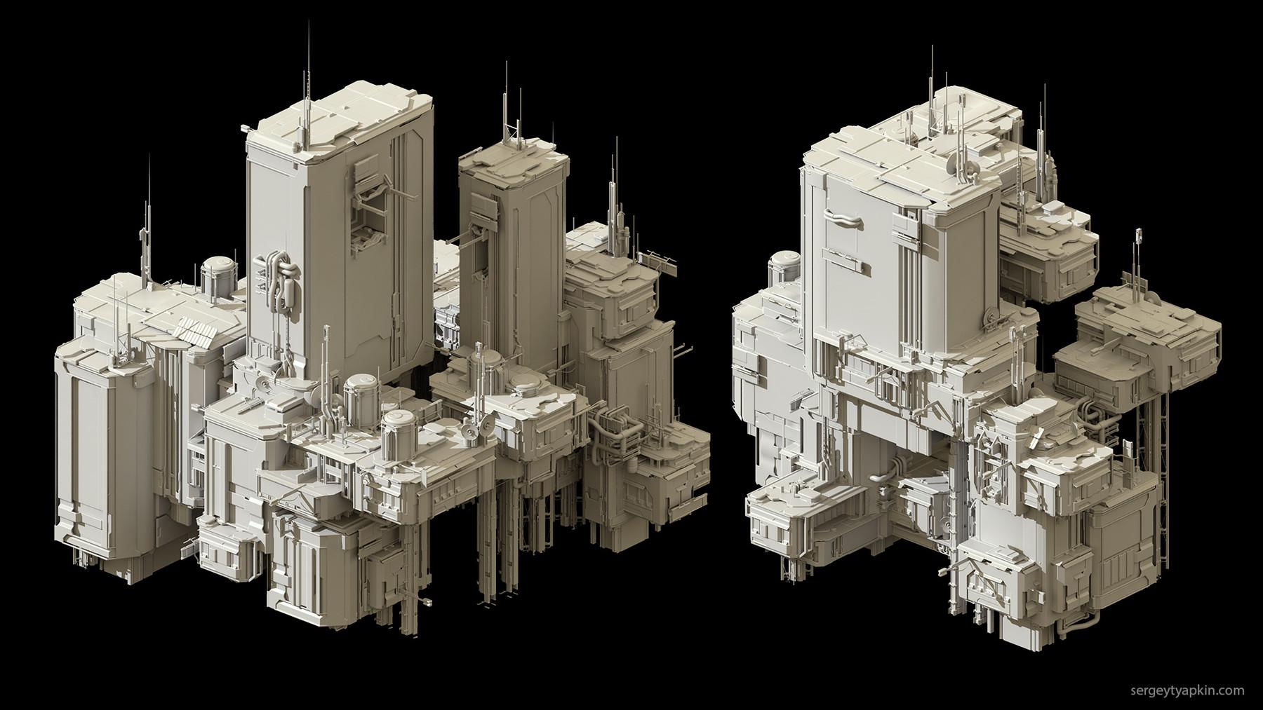 Buildings render 4