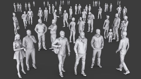 Complete Lowpoly People Pack