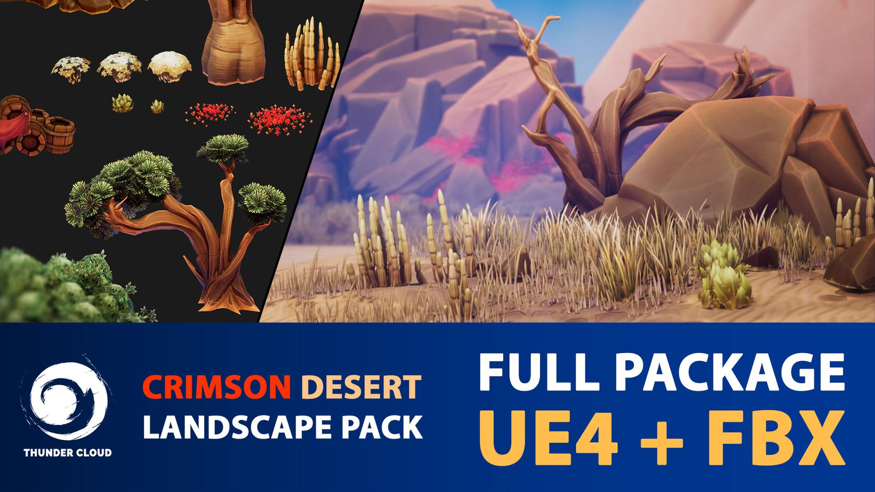 Dzung Phung Dinh Art - Crimson Desert Landscape - Full
