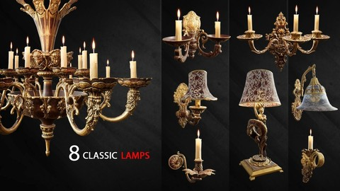 8 Classic Lamps [ Unreal 4 ]