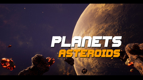 Asteroids Planet Unreal 4