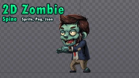 2D Chibi Zombie Businessman