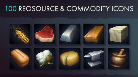 Resource  Commodity And Tool Icons