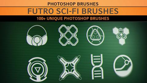 Futro Brushes - 100+ Sci-fi Photoshop Brushes