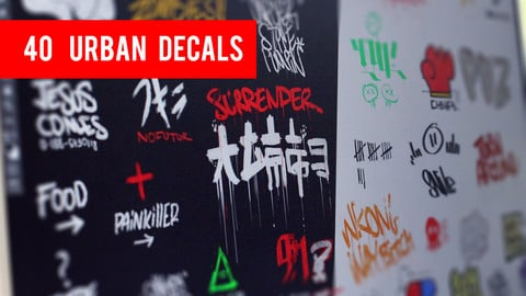 40 Urban decals