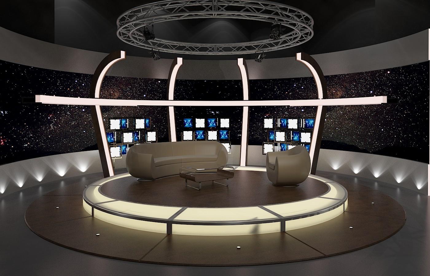 aker Studio - Virtual TV Studio Chat Set 20