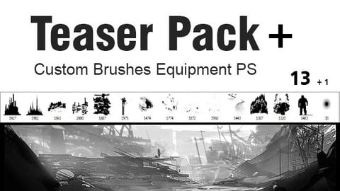 Teaser Pack plus  - Custom Brushes for Photoshop