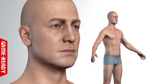 Average Caucasian Male Body
