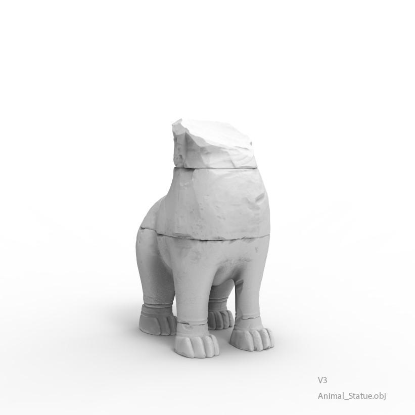 Animal statue v3