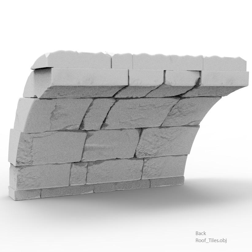 Roof tiles back
