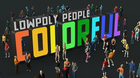 Lowpoly People Colorful
