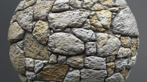 Brick wall 00768 - PBR Material GamesTextures.com