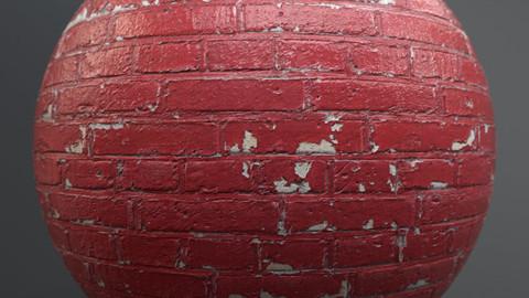 Brick wall 8303 - PBR Material Version: Bright / Dark / Subtract GamesTextures.com