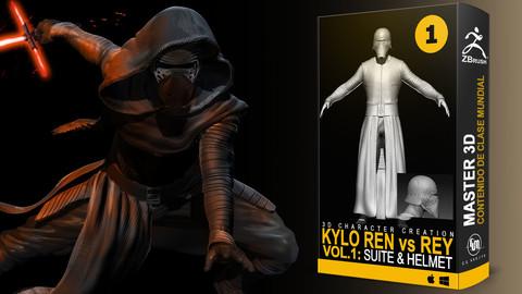 Kylo vs Rey En Vol. 1: Suite and Helmet  - Game Character pipeline in Zbrush