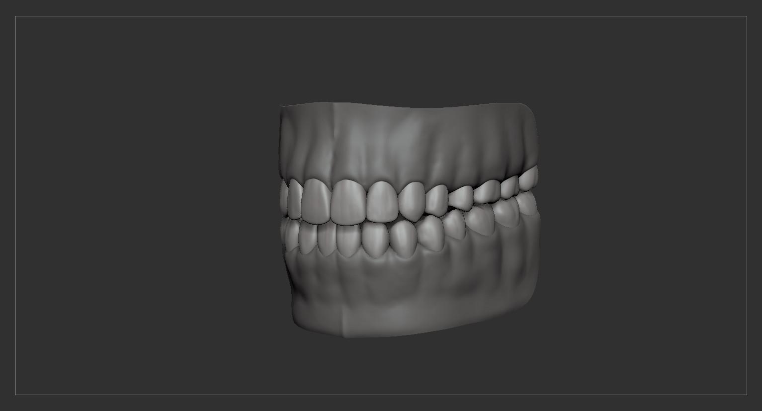 Teethtongue by alexlashko zbrush 11