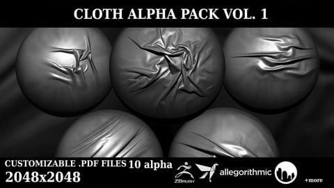 High Resolution Cloth Alpha Pack vol.1