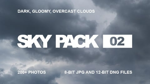 Sky Pack 02 / Dark, gloomy, overcast clouds reference pack