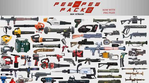 Pew Pew pack 2 (80 gun kitbash set)
