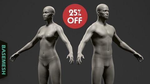 Average Body Basemesh Set