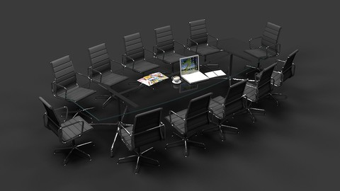 Eames Conference Table and chair Set