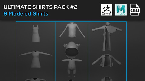Ultimate Shirts Pack # 2 Models