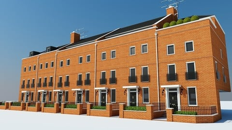 Terraced Town house Building