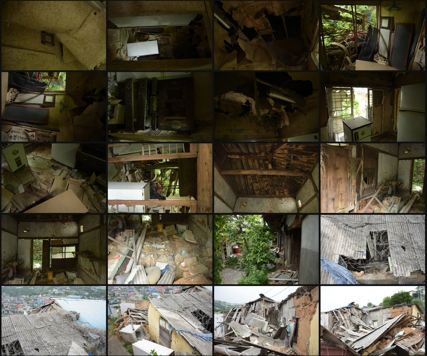 Photo reference pack abandoned houses 14