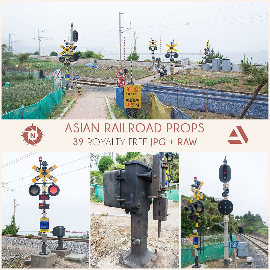 Photo reference pack asian railroad props 12
