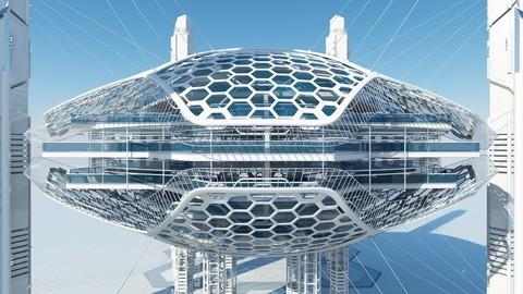 Futuristic Skyscraper HD 16
