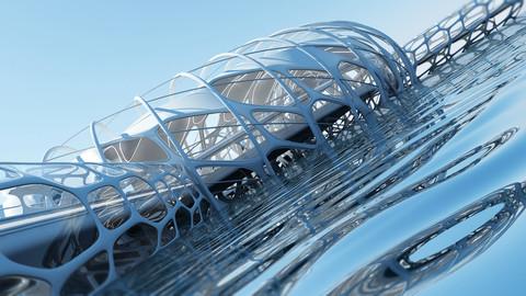 Futuristic Architectural Structure 17