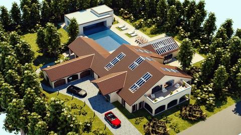Modern Luxury Villa In Spanish Architectural Style