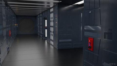SciFi Wall Panels - 19 Parts - Walls and Details 3D model
