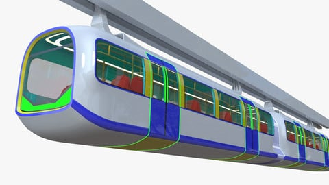 Monorail (elevated) train