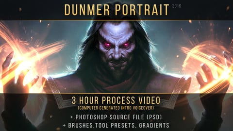 """Dunmer Portrait"" process video"
