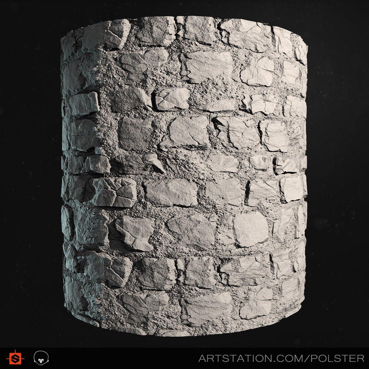 Rough cobblestone cyl