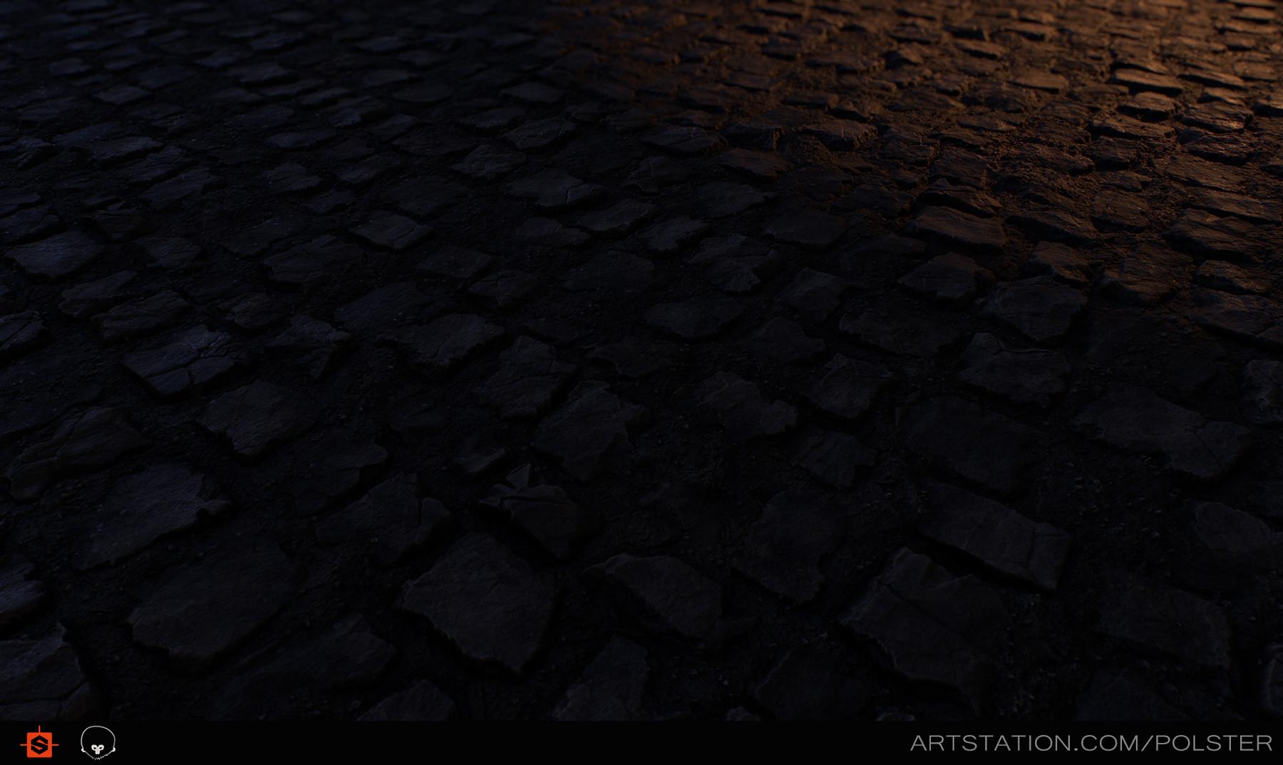 Rough cobblestone torches