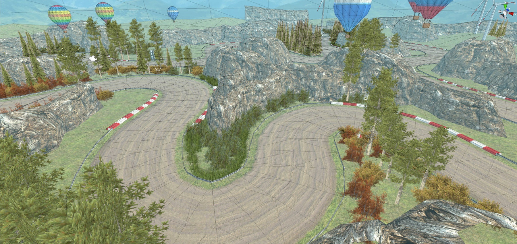 Rally Race Track Road Environment Pack For Mobile Games Unity3d