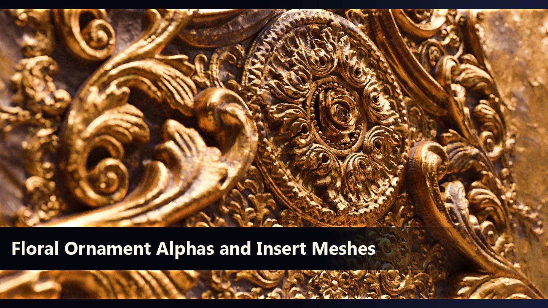 83 Ornament Alphas/zBrush IMM Brush by Martin Adam