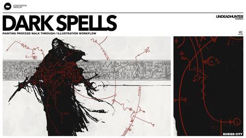Dark Spells - Painting Process walk through / illustration workflow