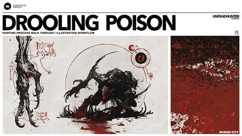 Drooling Poison - Painting Process walk through / illustration workflow