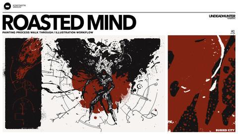 Roasted Mind - Painting Process walk through / illustration workflow