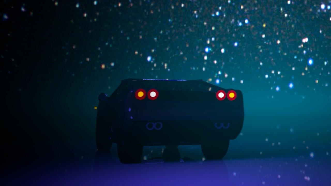 Michele Plunkett - cinema 4d-3D model of a sports car