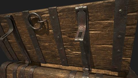 Wooden Trunk - Substance Painter