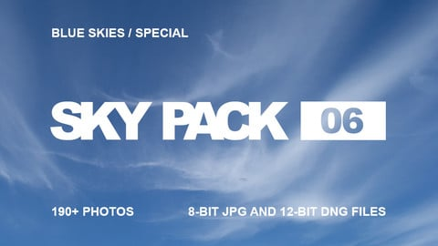 Sky Pack 06 / Blue Skies Special / Clouds reference pack